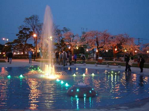 函館公園 中央噴水