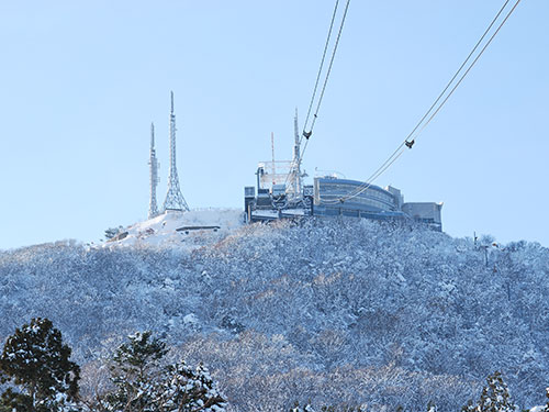 函館山 冬の展望台
