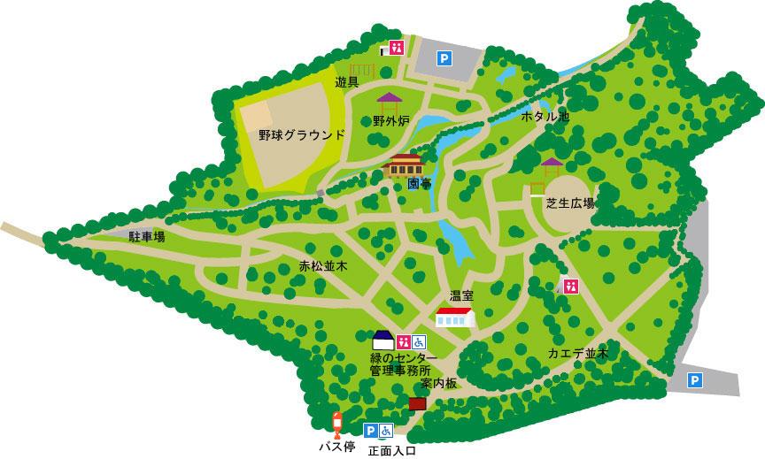 見晴公園 案内図