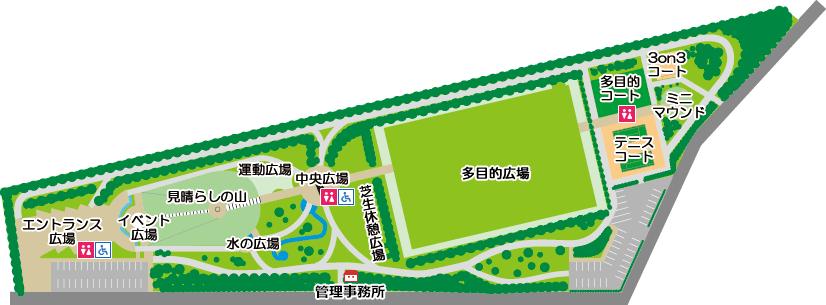 昭和公園 案内図
